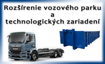 Rozšírenie vozového parku a technologických zariadení