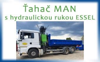 Ťahač MAN s hydraulickou rukou Essel